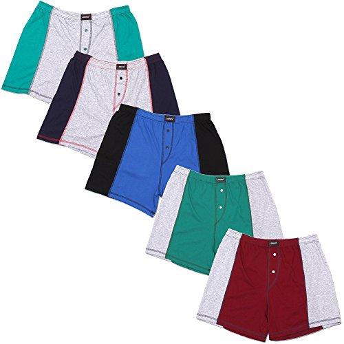 5er Pack Herren Boxershorts (Übergröße) Nr. 396 - Farben und Muster können variieren  Mehrfarbig