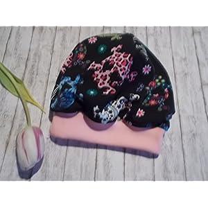 Kinder Mütze Beanie Skulls Totenkopf Mädchen rosa Übergangsmütze