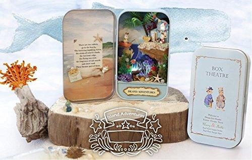 Wald Rhapsodie Diy Kabine Handgefertigte fertige Box Theater Serie montiert Kabine DIY Modell , island adventure +10 gift + gift bag -