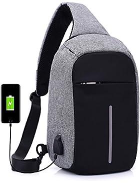 Uniqstore Herren Anti Theft Leichtgewicht Casual Schulterrucksack Umhängetasche Daypack