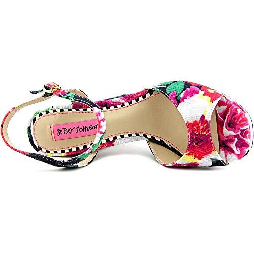 Betsey Textile Plateausandale Betsey Johnson Blk Floral Isla Johnson fUwqn5v