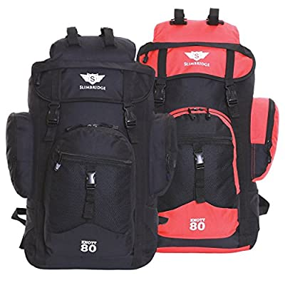 Slimbridge Knott 45L Super Lightweight Travel Carry On Cabin Hand Luggage Hiking Trekking Camping Rucksack Backpack Bag, Approved for Ryanair, EasyJet, British Airways, Virgin, Flybe, Wizzair and More - hand-luggage