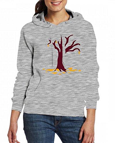 Tree Womens Hoodie Fleece Custom Sweartshirts Grey