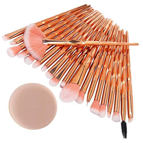 happy event 20PCS bilden Foundation Eyebrow Eyeliner erröten kosmetische Concealer Pinsel (C)