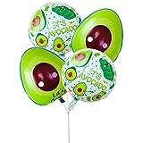 BESTOYARD 4 Stücke Avocado Folienballons Hawaiian Luau Party Ballons Mylar Heliumballons Geburtstag Party Dekorationen