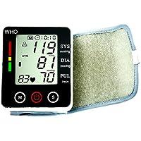 Tensiómetro digital automático electrónico Pantalla Táctil muñeca presión arterial y pulso Medidor de Ritmo de