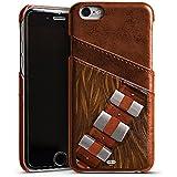 Apple iPhone 6 Lederhülle Leder Case mit Schlitz für Kreditkarte Brieftaschen Cover Star Wars Merchandise Fanartikel Chewbacca