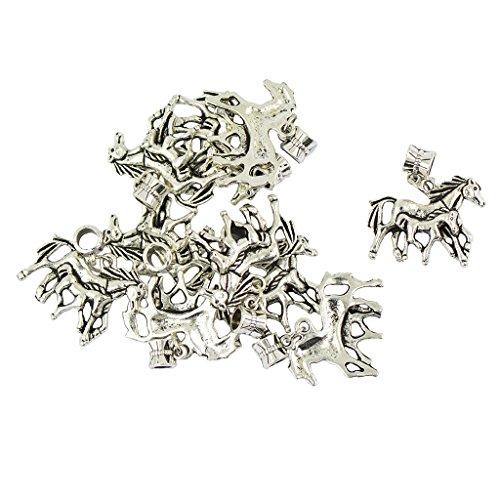 IPOTCH 10 pcs Pferd Stil Charms Anhänger DIY Halskette Armband Anhänger für Schmuckherstellung