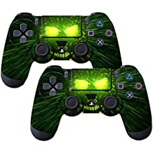 Elton PS4 Controller Designer 3M Skin For Sony PlayStation 4 , PS4 Slim , Ps4 Pro DualShock Remote Wireless Controller - Death (green & Black) , Skin For One Controller Only
