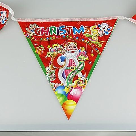 decorazioni di Natale 10pcs bandiere gagliardetto appeso bandiere memorizzare decorazione ornamento di Natale di Babbo Natale,23 * 242cm tromba (8)