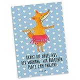 Mr. & Mrs. Panda Postkarte Fuchs Ballerina - Fuchs, Fuchs Spruch, Füchse, Füchsin, Ballerina, Ballett, Tänzerin, Tanzen, Party, Einladung, Geburtstag Postkarte, Geschenkkarte, Grußkarte, Karte, Einladung, Ansichtskarte, Sprüche