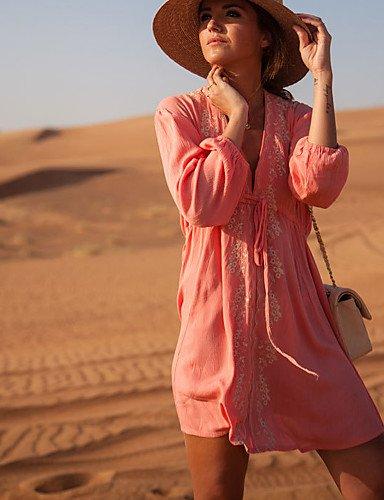 Damen Cover-Up - Floral Mit Schleife Chiffon Baumwolle Stirnband Pink