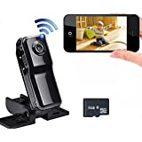 Electro-Weideworld - 8GB Mini P2P Wifi IP Caméra Espion Portable Vidéo Enregistreur DV Caméscope MD81/MD81S pour iPhone Android Smartphone Vue à Distance