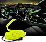 #3: Dashboard Interior LED light Glow Strip Neon Strip Light 5 Meters For All Cars