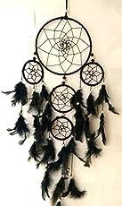 SGN Dream Catcher Wall Hanging Decorative Showpiece - 55 cm (Wool, Black)