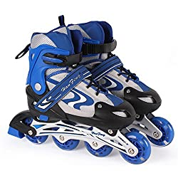 Inline Adjustable Skate,Roller Skating Shoes for kids Foot Size ( 9 Inches)