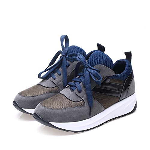 Chaussures de sport féminin/Cravate épaisse semelle chaussures/Chaussures de sport/Mesh round toe/Coupe-bas chaussures A