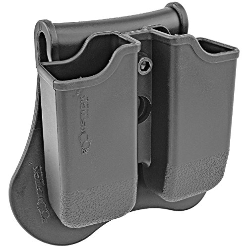Dual Magazine 360 Swivel Paddle Pouch, Fits 9mm .38 .40 Caliber Glock 17 19 22 23 25 26 27 31 32 33 34 35 37 38 39 -