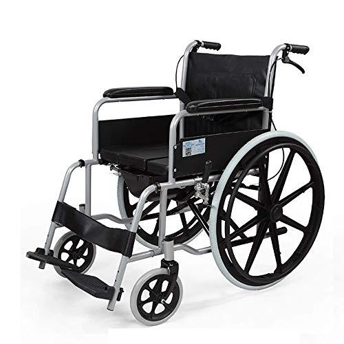 TWL LTD-Wheelchairs Fauteuil Roulant Transport Léger Fauteuil Roulant Pliant Personnes Âgées Handicapés Chariot de Planche à roulettes Poussette Manuelle Chaise de Voyage Portable Aides à la Marche