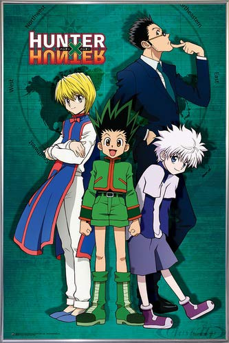 Close Up Hunter x Hunter Poster Group Map (93x62 cm) gerahmt in: Rahmen Silber -