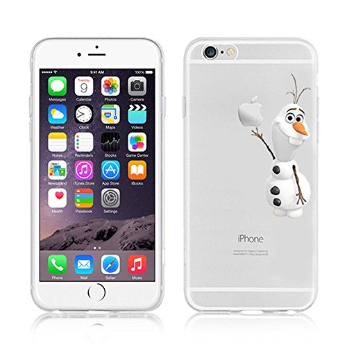 Epician DISNEY FROZEN & PRINCESS CLEAR TPU SOFT CASE FOR APPLE IPHONE 7 OLAF 1 OLAF