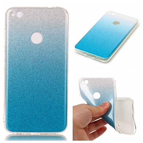 Flexible Thermoplastische Gummi-deckel (Huawei P8 Lite 2017 Hülle, SsHhUu Ultra Dünn Bling Flexibler Weicher Gummi TPU Haut Fall Stoßstange Silikon Gel Cover für Huawei P8 Lite 2017 / P9 Lite 2017 / Honor 8 Lite (5.2