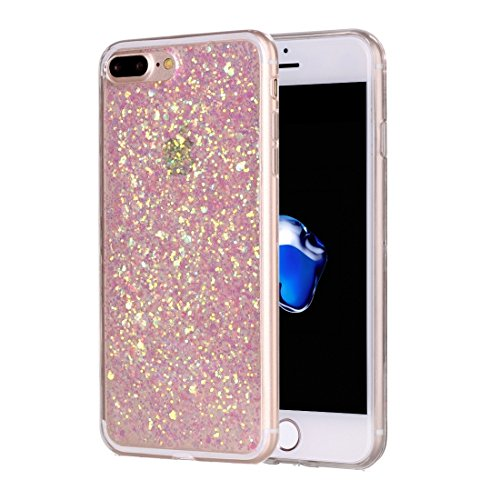 BING Für iPhone 7 Plus Glitzer Powder Soft TPU Schutzhülle BING ( Color : Silver ) Pink