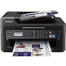 Epson Workforce WF-2630WF - Impresora multifunción de tinta (WiFi, pantalla LCD monocroma retroiluminada de 5,6 cm), color negro