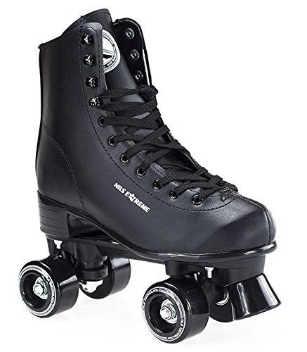 Rollschuhe für Kinder Skates Rollerskates Inliner Disco Skates Sport NQ8400S (Schwarz, 38)