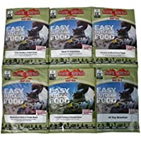 Pack of 6 Ready To Eat Camping Meals.
