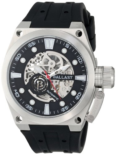 Ballast Men's BL-3105-01 Valiant Analog Automatic Self-Wind Black Watch