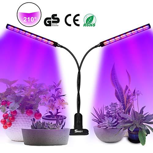 SKEY LED Pflanzenlampe, UV & IR Lampe 96 LEDs Grow Lampe dimmbar Pflanzenlicht Vollesspektrum Pflanzen Wachstumslampe mit Timing Wachstumslampe, 3 Timer 3/6/12H Zimmerpflanzen