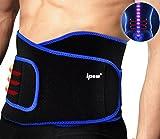 Ipow Profi Fitnessgürtel Sport Rückenbandage Rückenstütze - Hochwertig Atmungsaktiv mit