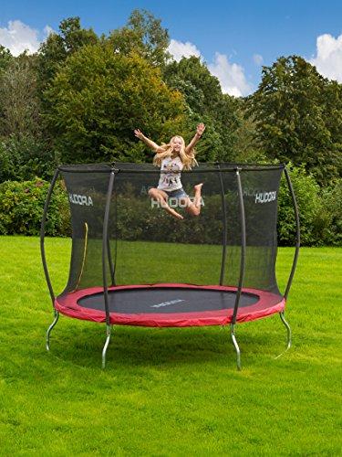 HUDORA Trampolin Fantastic 400 cm – Gartentrampolin mit Sicherheitsnetz - 4