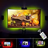"""VILSOM USB con alimentación LED de iluminación de polarización para la pantalla de TV y monitor de la PC, RGB que cambia de color de Gaza Kit (32 """"-47"""" TV 4 lados iluminan)"""