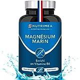 Magnésium Marin et Vitamine B6 - Jusqu'à 300 mg/jour -120 gélules d'origine végétales jusqu'à 4 mois de cure - Combat efficacement la fatigue - Fabrication française