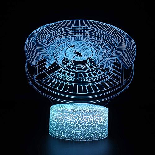 3D Illusion Lampe Optische Nachtlicht Yard 7 Farben Erstaunliche Optische Täuschung Die Schlafzimmer-Dekoration Für Kinder Weihnachten Halloween-Geburtstagsgeschenk Beleuchten