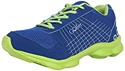 Golfer Mens Royal Blue & Green Synthetic Sports Shoes- 8