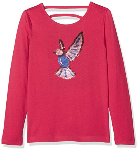 TOM TAILOR Kids Mädchen Langarmshirt Tee with Special Artwork, Rot (Springtime Red 4700), - Vögel Artwork