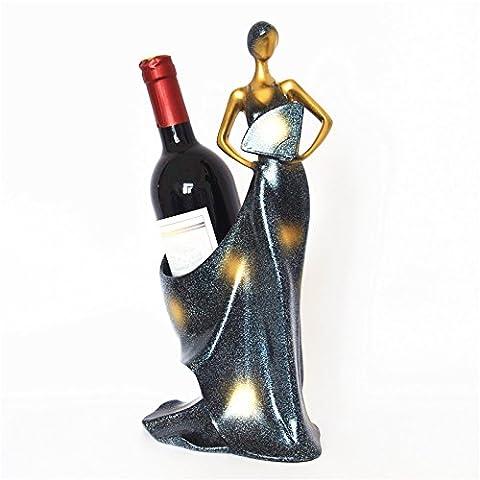 GZD Kreative Weinregal moderne einfache Weinflasche Glas Regal Weinschrank Ornamente schöne Wein Regal Wohnzimmer Wein halten, zwei Arten zu wählen , beauty wine server a