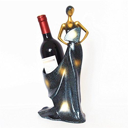 MFFACAI Kreative Weinregal Moderne einfache Weinflasche Glas Regal Weinschrank Ornamente schöne Wein Regal Wohnzimmer Wein halten, Zwei Arten zu wählen, Beauty Wine Server a -