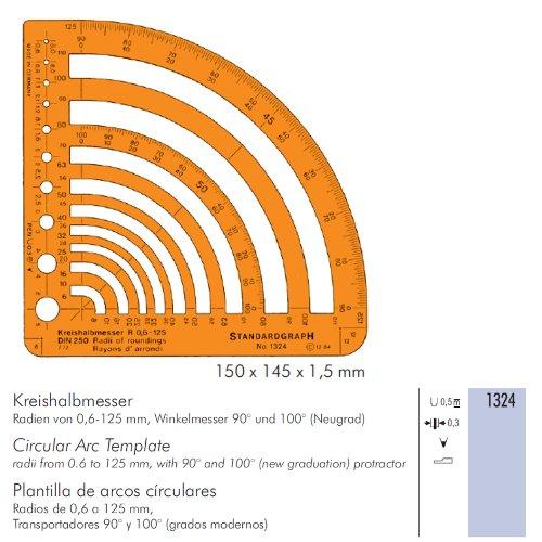 Radien-Schablone 0,6-125mm