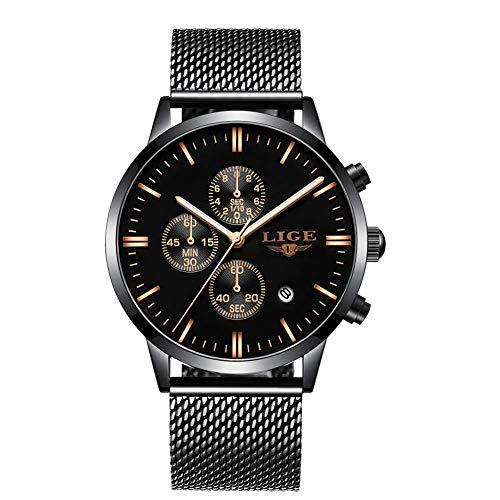 alog Quarz mit Edelstahl Armband L9834 ()