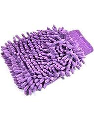 yssabout Gant de toilette (couleur aléatoire) Chenille en velours pour lavage de voiture nettoyage Fournitures de nettoyage