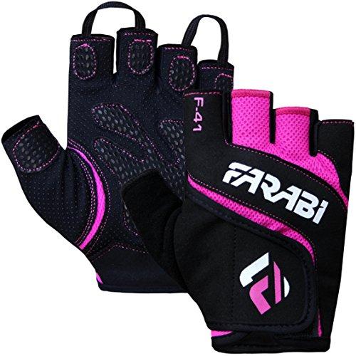 guanti per palestra Farabi F-41 - Ottimi guanti unisex da palestra con imbottitura in neo