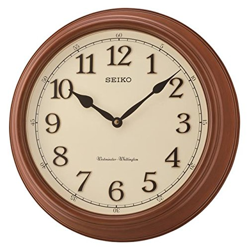 Seiko Qxd214b Westminster/Whittington Double Carillon Horloge Murale, Marron, 42 x 42 x 11 cm