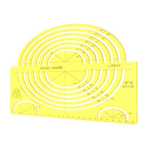 GOZAR Kunststoff Qualität Professionelle Zeichenwerkzeuge Fuß Mehrzweck Oval Template Lineal