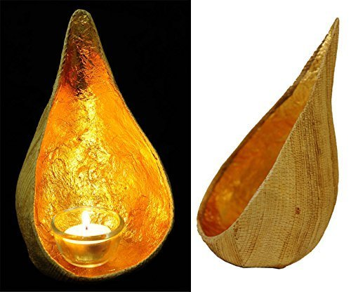 Exotic Elegance Asian Water Drop Hanging Candle Holder From Natural Banana and...