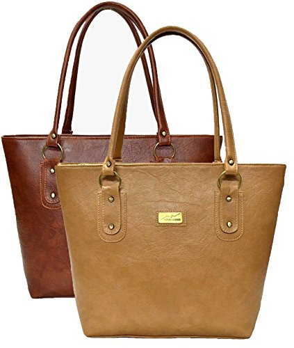 Mammon Women's Handbag (Combo of 2) Beige - (Basic-combo, 40x30x10 CM)