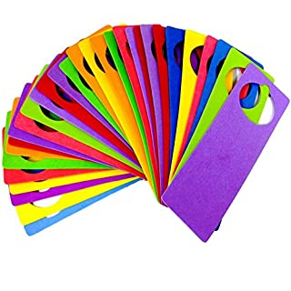 Door Hanger Hangers Foam Craft Kids Crafts Assorted Colours Pack of 30 By Amazing Arts and Crafts